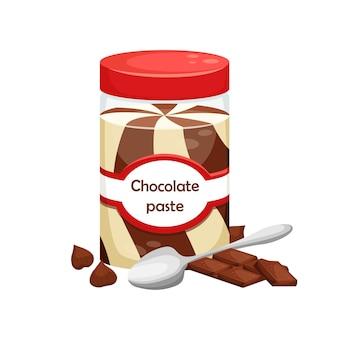 チョコレートペーストの缶のイラスト