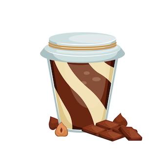 Иллюстрация банки шоколадной пасты