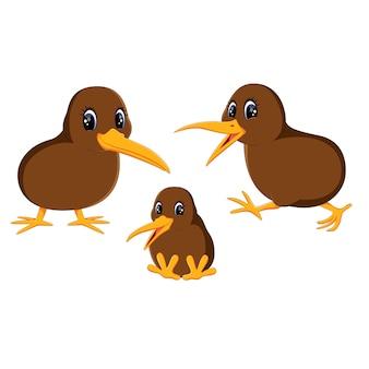 Иллюстрация крупным планом киви птицы