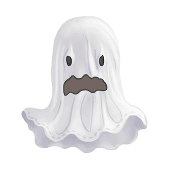 Иллюстрация вектора икон призрак для хэллоуина
