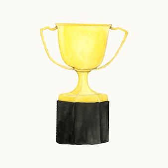 Illustration of a golden trophy
