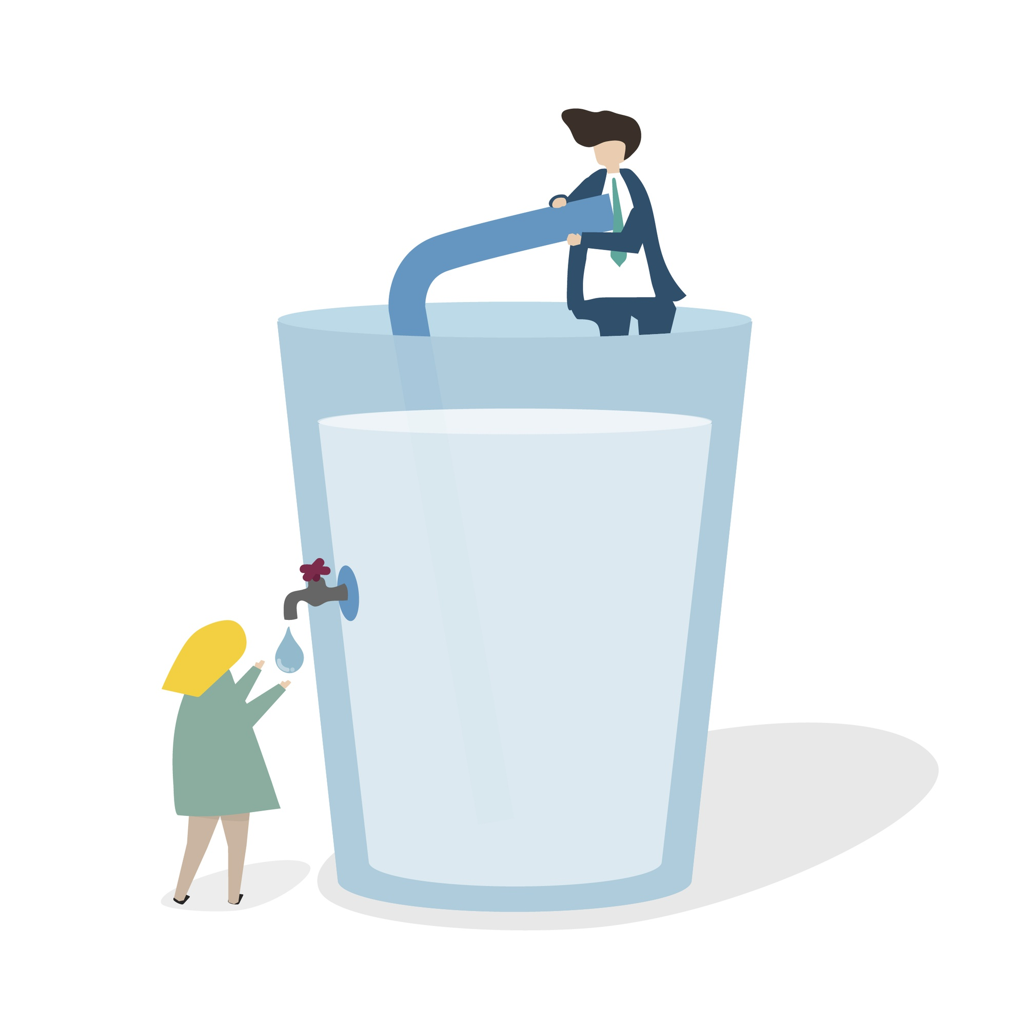 Illustration of a huge water glass