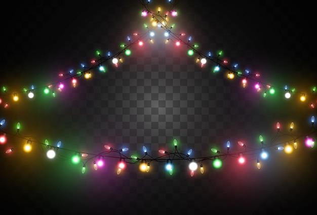 透明な背景に明るい花輪のイラスト