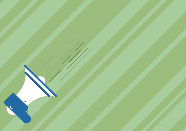 빠른 새 발표를 만드는 확성기의 그림입니다. 중요한 신속한 통지를 제공하는 물러나 도면. 경적 스피커 스케치가 신속한 프로모션을 생성합니다.