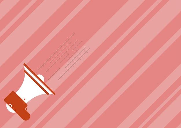 중요한 신속함을 주는 빠른 새 발표 물러나 그림을 만드는 확성기의 그림