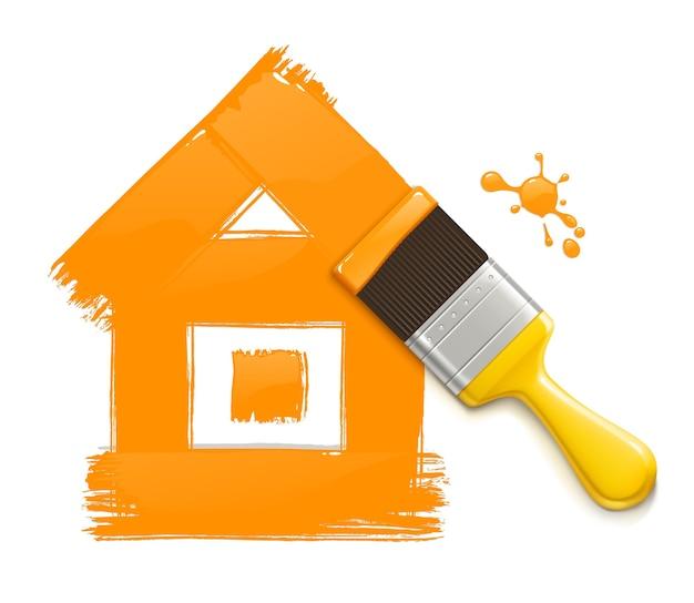 집 그리기 페인트 브러시의 그림입니다.