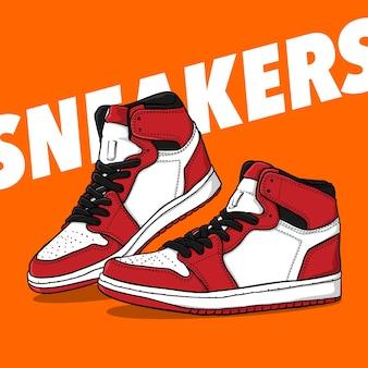 Иллюстрация пары кроссовок