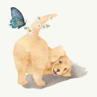 강아지의 그림