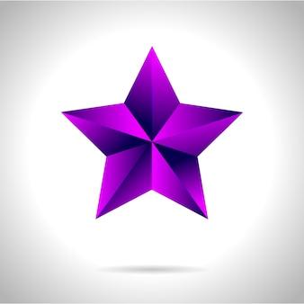 Иллюстрация фиолетовой золотой звезды на стальном фоне