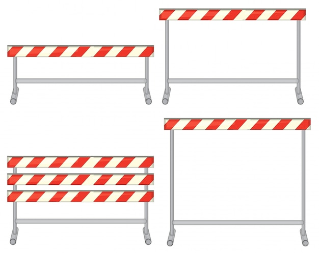 장애물 세트의 그림