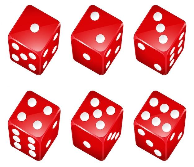 Иллюстрация набора красных кубиков