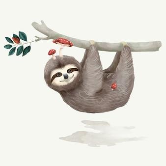 Illustration of a sloth