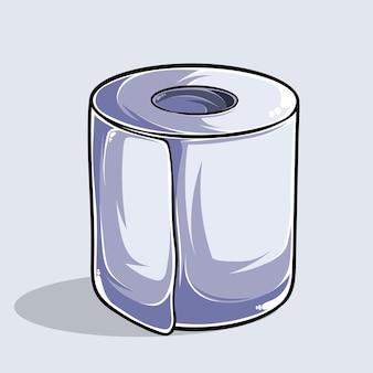 Иллюстрация туалетной бумаги в высоком качестве и тенях, гигиенический продукт, для предотвращения вируса в бутылках.