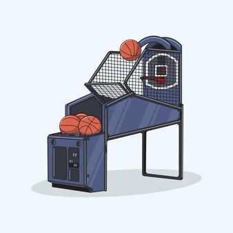장난감 농구 기계의 그림