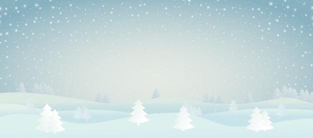 Иллюстрация зимнего пейзажа