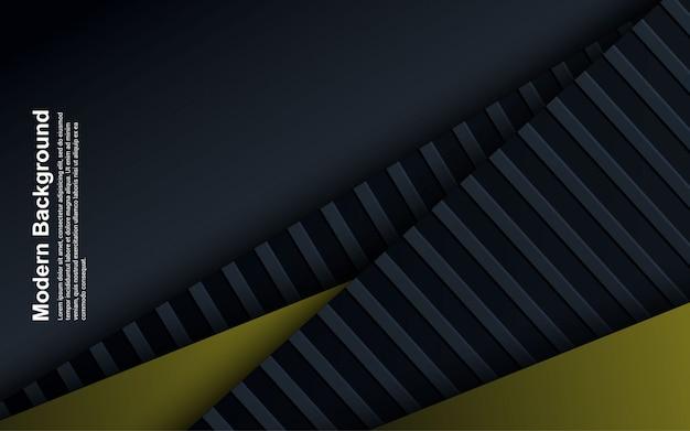Иллюстрация абстрактного фона черного и синего с желтым цветом