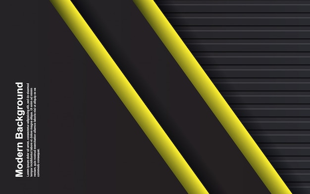 Иллюстрация абстрактного фона черного и желтого цвета