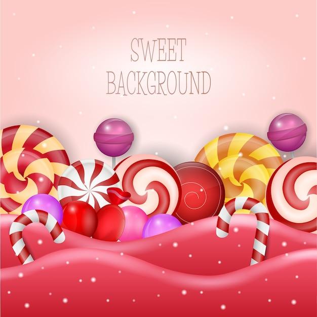 Иллюстрация абстрактного фона со сладкой конфеты