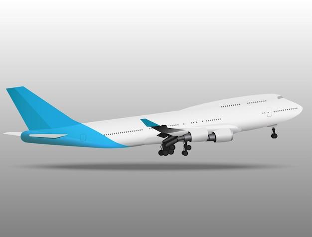 飛ぶ飛行機のイラスト