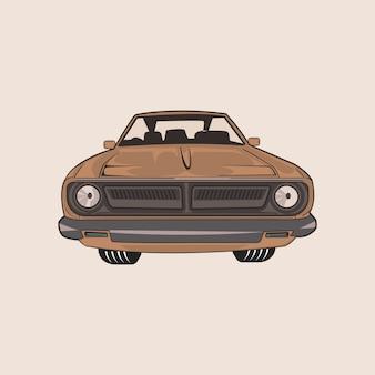 アメリカの古典的な車のイラスト