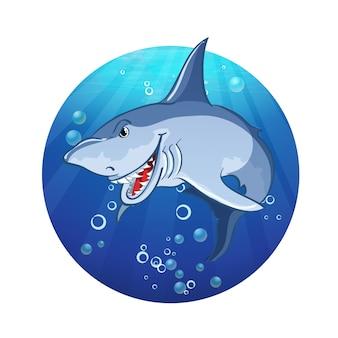 Иллюстрация злой акулы