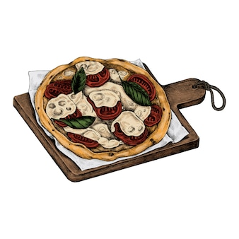 Иллюстрация итальянской пиццы