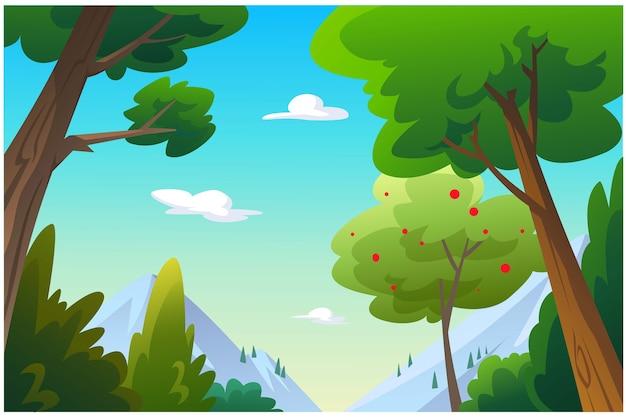 Иллюстрация на открытом воздухе в джунглях и естественных условиях.