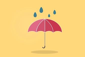 Illustration of an umbrella