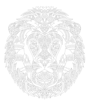 Illustration of animal adult coloring page