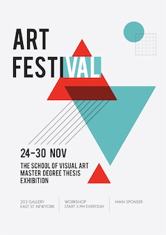 Illustration of art exhibition poster