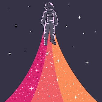 Иллюстрация космонавта