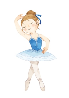Иллюстрация танцующей балерины