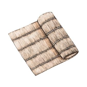 竹プレートのイラスト