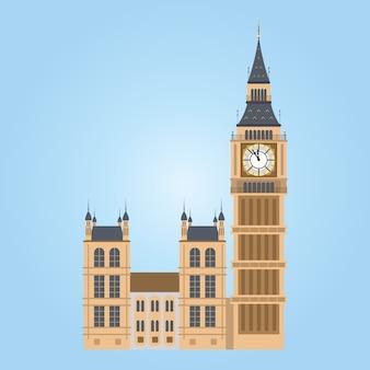 Иллюстрация башни биг-бен в лондоне. биг бен