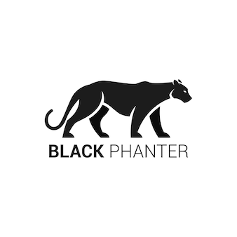 공백에 검은 팬더의 그림