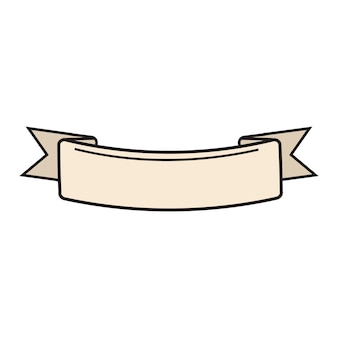 Illustration of blank ribbon banner