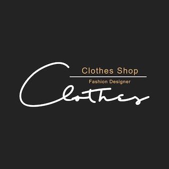 Иллюстрация бутик-магазина логотип печать баннер