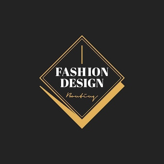 Иллюстрация бутик-магазина логотип печать баннер Бесплатные векторы