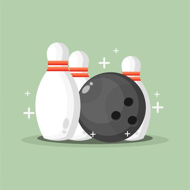 Иллюстрация боулинга с мячом