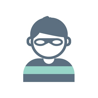 Illustration of burglar