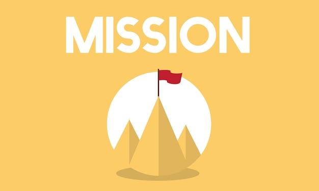 ビジネスミッションのイラスト