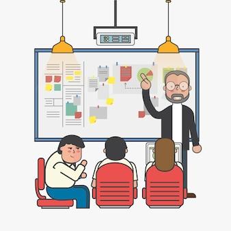 Illustration of business people avatar