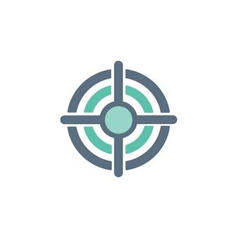 Иллюстрация значка бизнес-цели