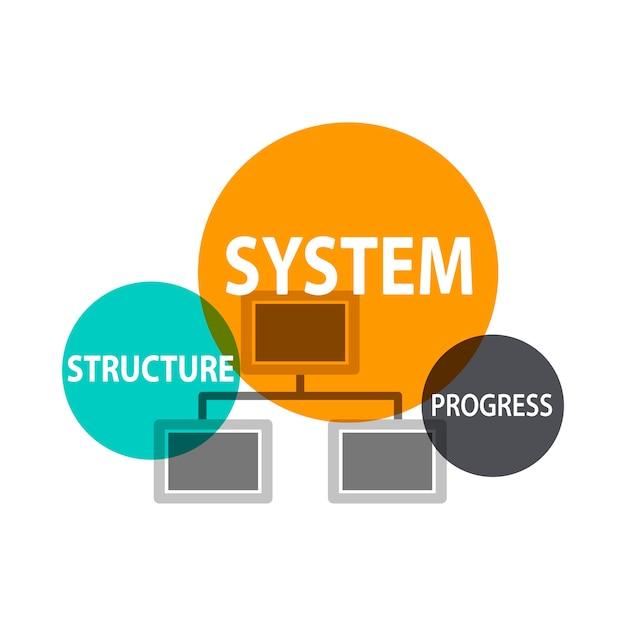 Иллюстрация структуры бизнес-команды Бесплатные векторы
