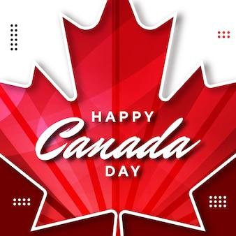 カエデの葉のあるカナダの日のイラスト