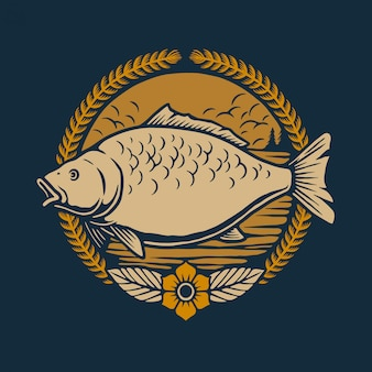 Иллюстрация карповых рыб