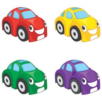 Illustration Of Cartoon Cars