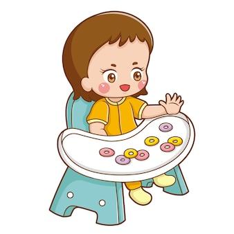 Иллюстрация мультипликационного персонажа ребенка