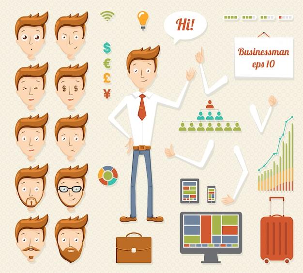 Иллюстрация мультипликационного менеджера