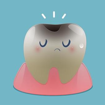 漫画の虫歯のイラスト